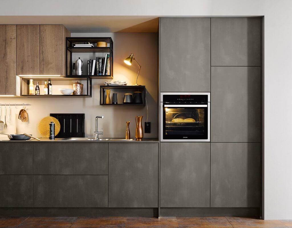 Küchenfront in grau