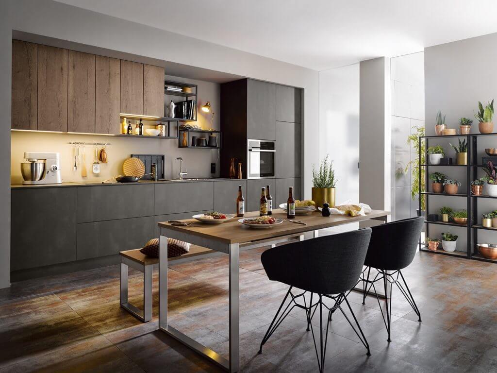 Foodtruck-Küche grau