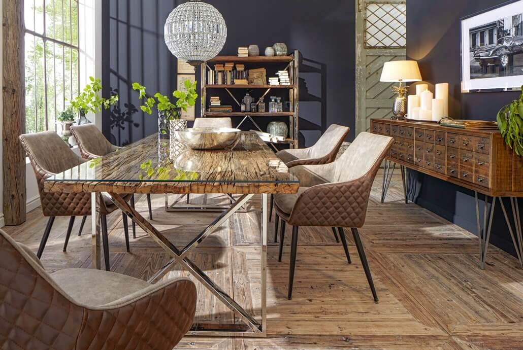 Kuboth Esszimmer Lederstühle Holztisch