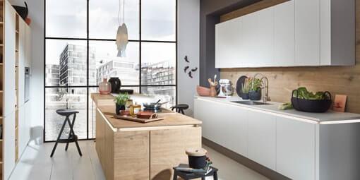 Kuboth Nolte Küchen Naturholz Weiß
