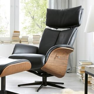 Kuboth Polstermöbel Relaxsessel Holz Leder