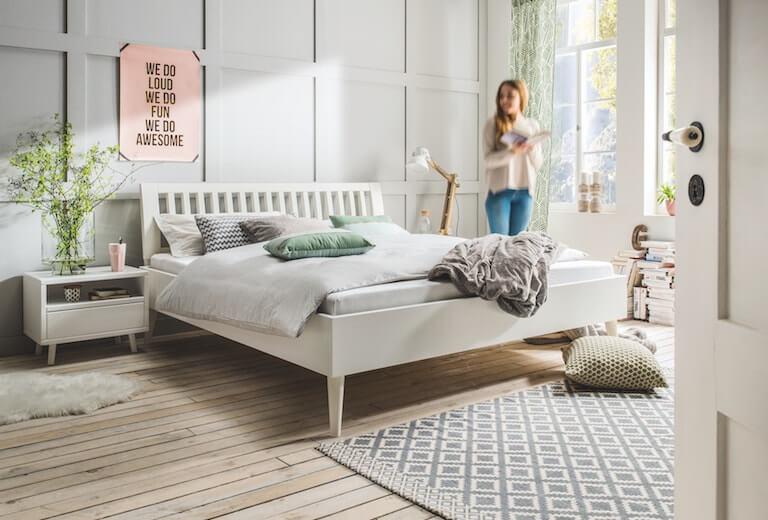 Kuboth Schlafzimmer Bett Weiß