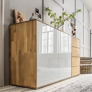 Kuboth Schlafzimmer Kommode Naturholz Weiß