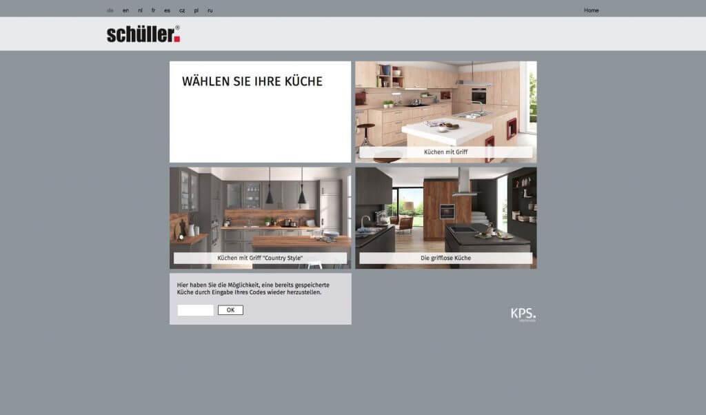 Schüller Küchenkonfigurator