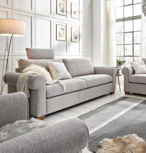 Sofa im Landhausstil weiß