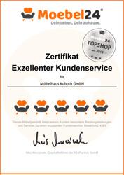 Top-Shop Zertifikat Möbelhaus Kuboth