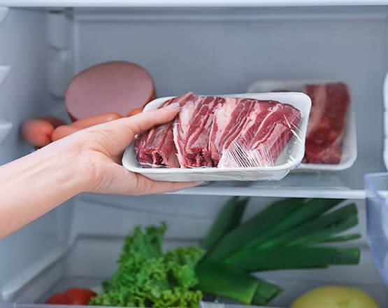 Fleisch im Kühlschrank