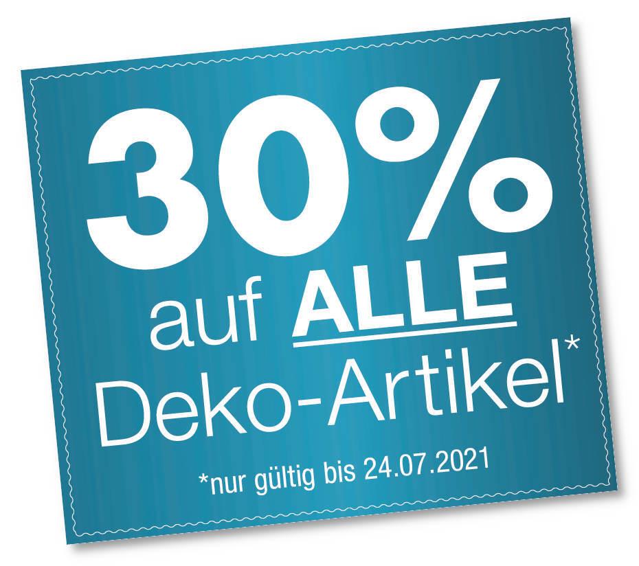 30% auf Dekoartikel bei Möbel Kuboth